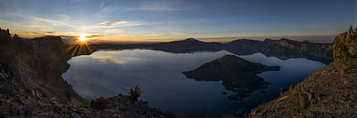 Photograph - Crater Lake At Sunrise by Tod Colbert