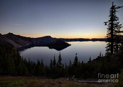 Photograph - Crater Lake Dawn by Idaho Scenic Images Linda Lantzy
