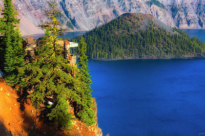 Photograph - Crater Lake Early Dawn Scenic Views Vi by Dee Browning
