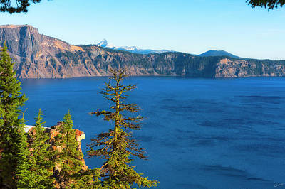 Photograph - Crater Lake Early Dawn Scenic Views Vii by Dee Browning