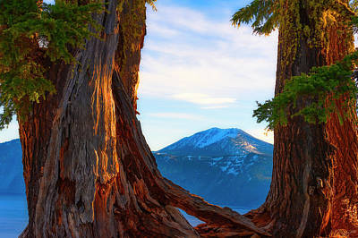 Photograph - Crater Lake Early Dawn Scenic Views Viii by Dee Browning