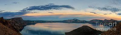 Crater Lake Evening Art Print
