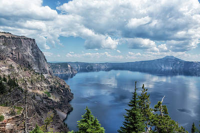 Photograph - Crater Lake From The North Rim, No. 2 by Belinda Greb