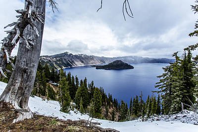 Crater Lake In Spring Print by Michael Parks