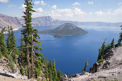 Photograph - Crater Lake Klamath County Oregon Dsc5161 by Wingsdomain Art and Photography
