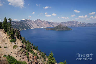 Photograph - Crater Lake Klamath County Oregon Dsc5198 by Wingsdomain Art and Photography