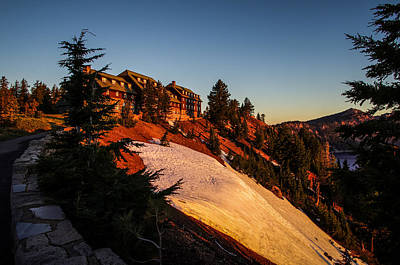 Crater Lake National Park Photograph - Crater Lake Lodge Sunrise by Scott McGuire