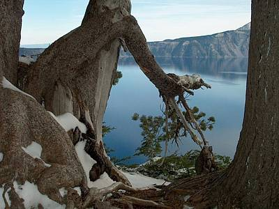 Crater Lake View Photograph - Crater Lake by Lori Seaman
