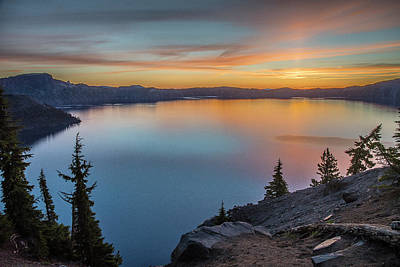 Photograph - Crater Lake Morning No. 1 by Matthew Irvin