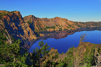 Photograph - Crater Lake Morning Reflections by Greg Norrell