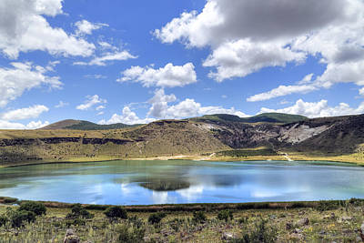 Crater Lake Wall Art - Photograph - Crater Lake Narligol - Turkey by Joana Kruse