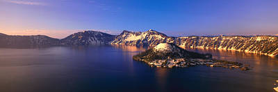 Crater Lake View Photograph - Crater Lake National Park, Oregon by Panoramic Images