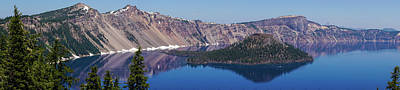 Photograph - Crater Lake Oregon Panorama by Lawrence S Richardson Jr