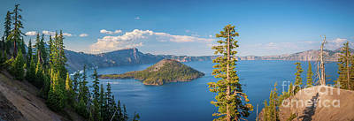 Crater Lake Wall Art - Photograph - Crater Lake Panorama by Inge Johnsson