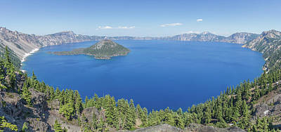 Photograph - Crater Lake Panoramic by Paul Schultz