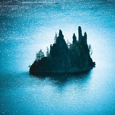 Photograph - Crater Lake - Phantom Ship by Alexander Kunz