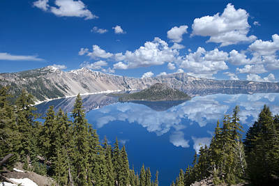 Mount Mazama Photograph - Crater Lake Reflections by Loree Johnson