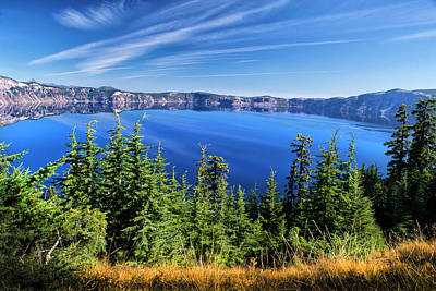 Art Print featuring the photograph Crater Lake Rim Reflections by Frank Wilson