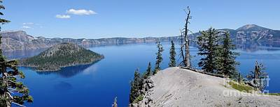 Photograph - Crater Lake Scenic Panorama by John Kelly