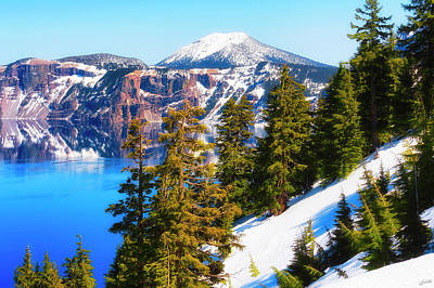 Photograph - Crater Lake Early Dawn Scenic Views II by Dee Browning