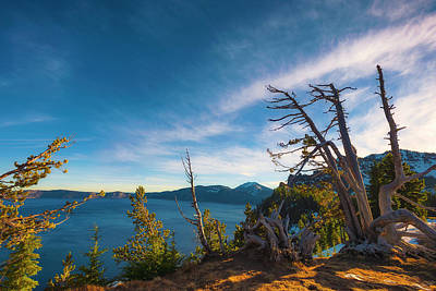 Photograph - Crater Lake Early Dawn Scenic Views V by Dee Browning