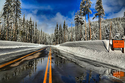 Photograph - Crater Lake Snow Zone by Adam Jewell