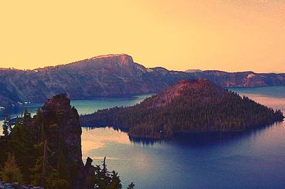 Crater Lake Print by Steve Warnstaff