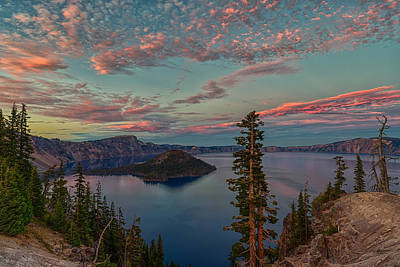 Oregon Photograph - Crater Lake Sunset 10-8-15 by Exquisite Oregon