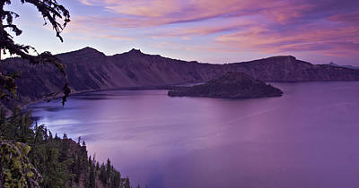 Photograph - Crater Lake Sunset by Paul Riedinger