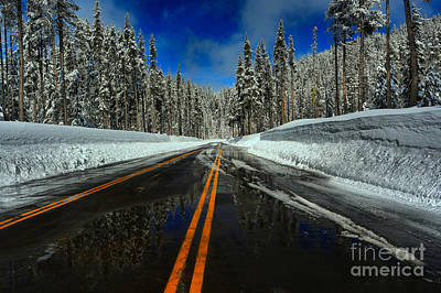 Photograph - Crater Lake Winter Entrance by Adam Jewell