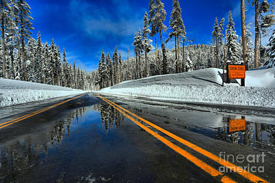 Photograph - Crater Lake Winter Welcome by Adam Jewell