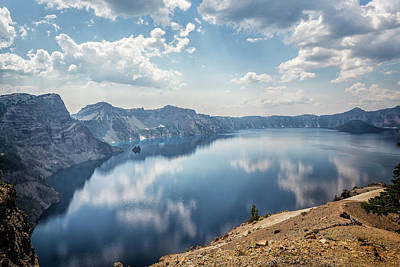 Photograph - Crater Lake With A View Of The Phantom Ship by Belinda Greb