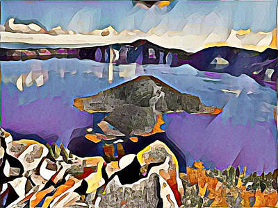 Crater Lake Yellowstone Art Print by Roger Smith