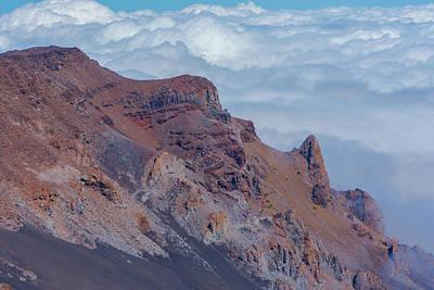 Crater Wall Of The Haleakala Volcano Art Print