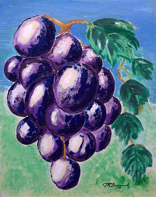 Painting - Craving Grapes by J R Seymour