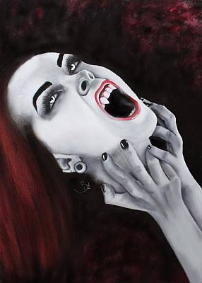 Dracula Drawing - Craving by Selin Dilara