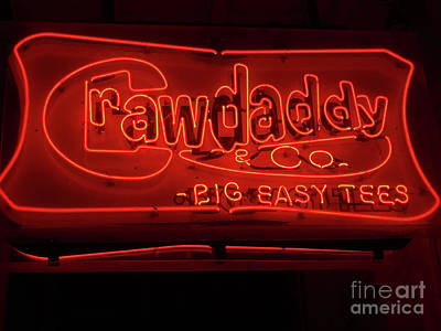 Photograph - Craw Daddy Neon Sign by Steven Spak