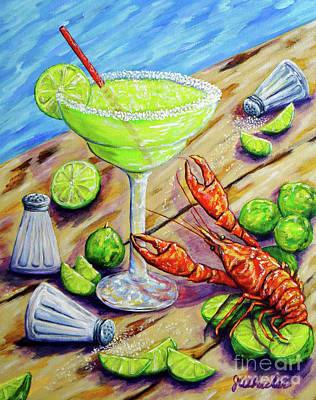 Painting - Craw-rita by JoAnn Wheeler