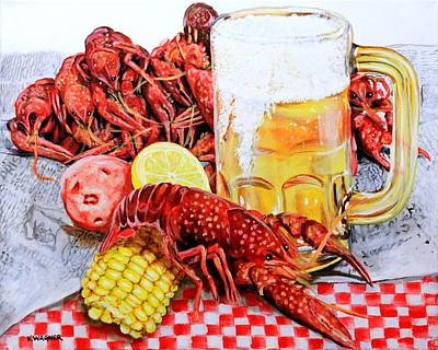 Painting - Crawfish Boil by Karl Wagner
