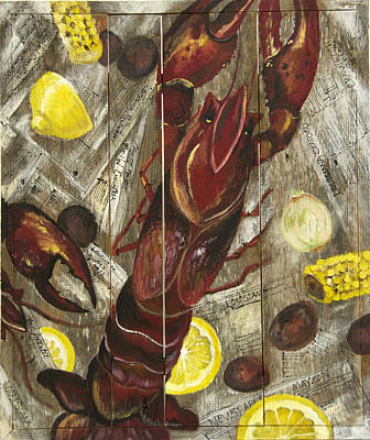 Boiled Crawfish Painting - Crawfish Boil by Stacey Blanchard