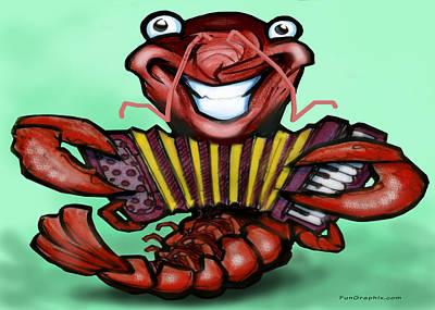 Crawfish Digital Art - Crawfish by Kevin Middleton