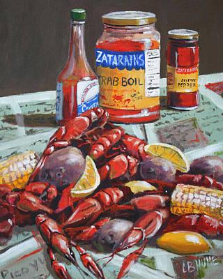 Boiled Crawfish Painting - Crawfish Season by CB Hume