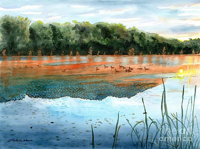 Painting - Crawford Lake Morning by LeAnne Sowa
