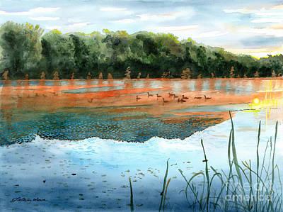 Painting - Crawford Lake Morning by LeAnne Sowa