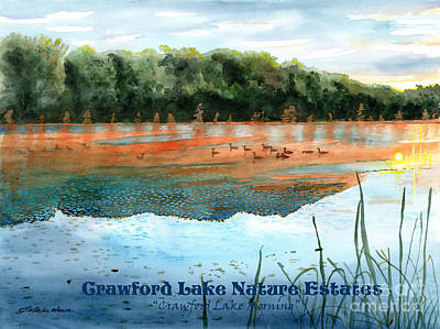 Painting - Crawford Lake Nature Estates by LeAnne Sowa