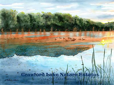 Painting - Crawford Lake Nature Estates by LeAnne Sowa