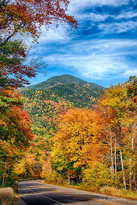 Best Sellers - Dan Beauvais Royalty-Free and Rights-Managed Images - Crawford Notch 8738 by Dan Beauvais