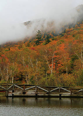 Photograph - Crawford Notch Autumn Rain On Saco Lake by Dan Sproul