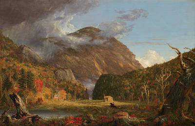Horse Riding Painting - Crawford Notch by Thomas Cole