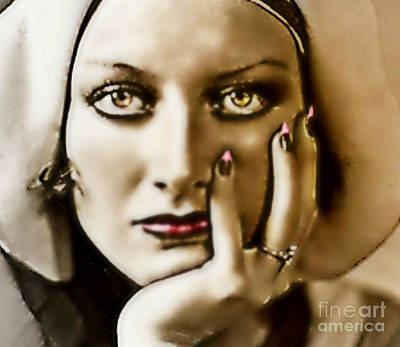 Joan Crawford Painting - Crawford by Wbk